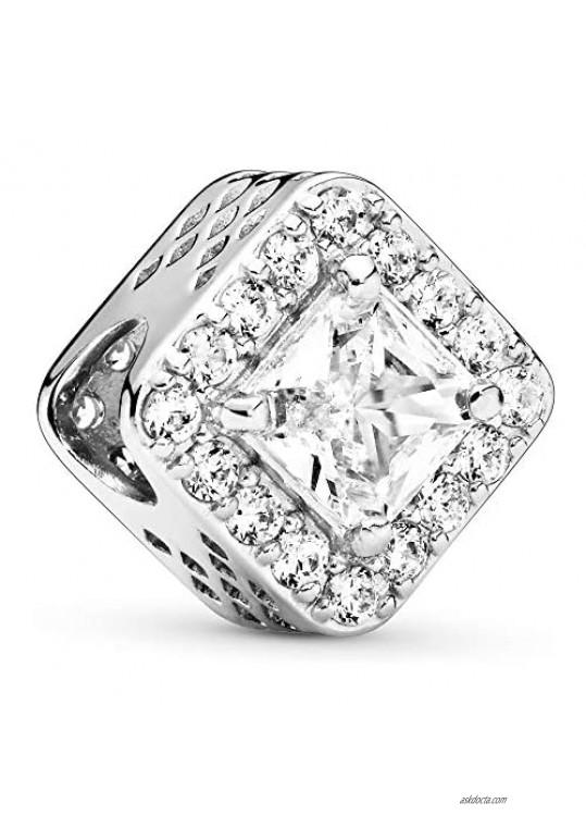 Pandora Jewelry Geometric Radiance Cubic Zirconia Charm in Sterling Silver