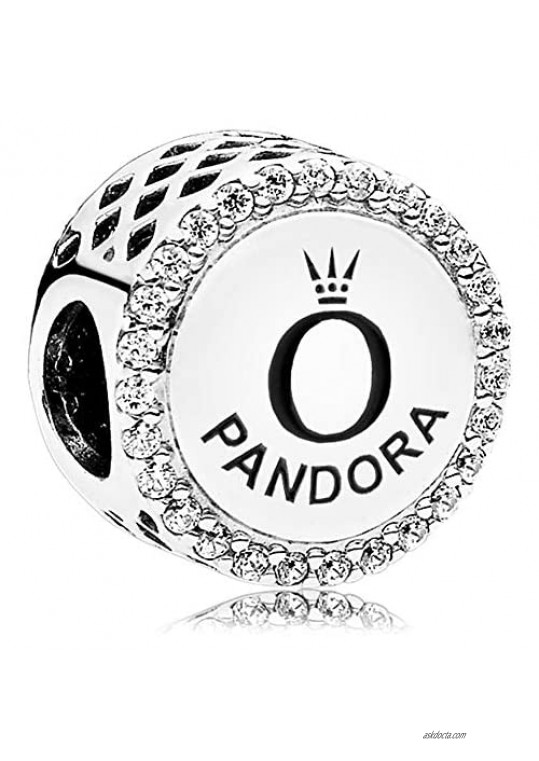 Pandora Jewelry Silver Cubic Zirconia Charm in Sterling Silver