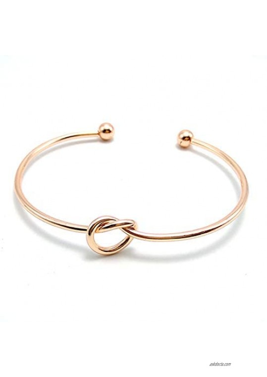 I Can't Tie The Knot Without You Bridesmaid Bangle Rose Gold Bracelets With Card-Set of 1 4 5 6 10