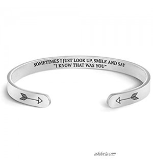 Mint & Lily Sometimes I Just Look Up  Smile and Say I Know That was You Cuff Bracelet