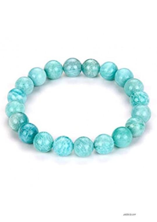Adabele Natural Gemstone Bracelet 7 7.5 8 8.5 inch Stretchy Chakra 10mm (0.39) Beads Gems Stones Healing Crystal Quartz Jewelry Women Men Girls Birthday Gifts