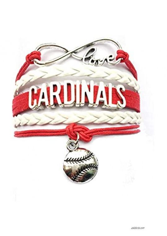 DOLON Infinity Love Cardinals Bracelet Handmade Leather Velvet Friendship Gift
